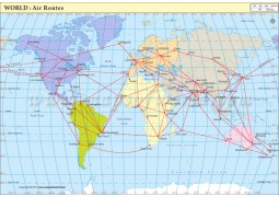 Air Route Map : World