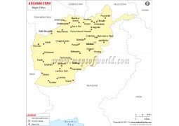Afghanistan Cities Map
