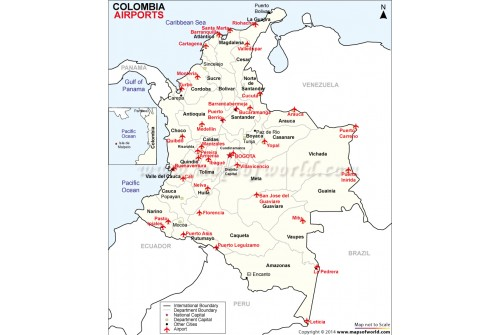 Colombia Airports Map
