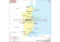 Belize Cities Map