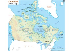 Canada River Map