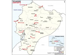Ecuador Airports Map