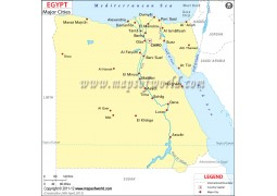 Egypt Map with Cities