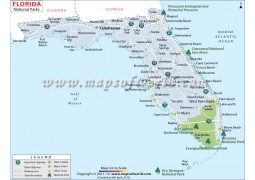 Florida National Parks Map