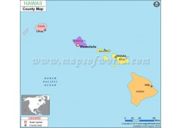 Hawaii County Map