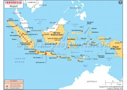 Indonesia Airports Map