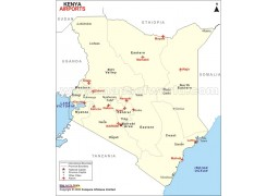 Kenya Airports Map