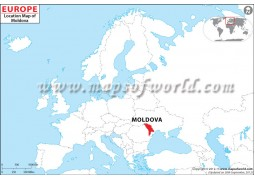 Moldova Location Map