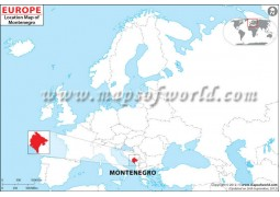 Montenegro Location Map