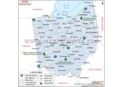 Ohio National Parks Map