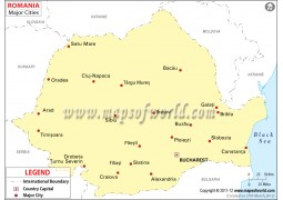 Map of Romania with Cities