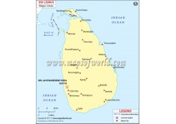 Sri Lanka Map with Cities