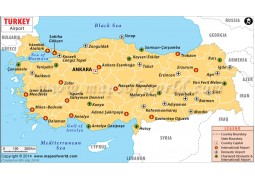Turkey Airports Map