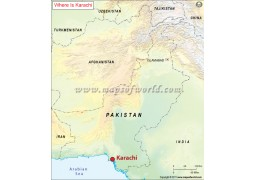 Karachi Location Map
