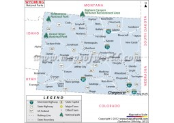 Wyoming National Parks Map