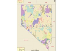 Nevada Zip Code Map