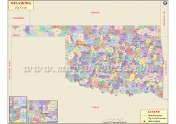 Oklahoma Zip Code Map