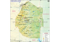 Swaziland Map