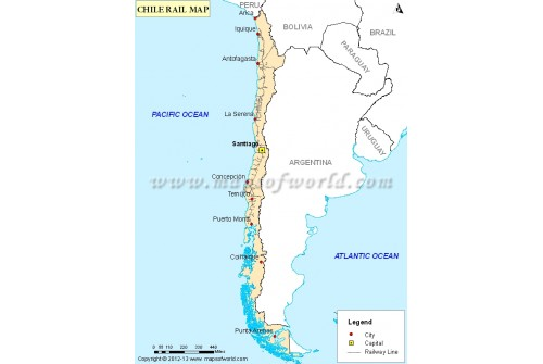 Chile Rail Map