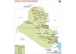 Iraq oil Pipelines Map