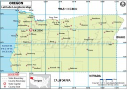 Oregon Latitude and Longitude Map