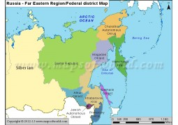 Russia Far Eastern Region Map