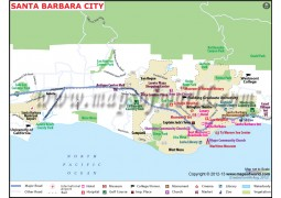 Santa Barbara City Map