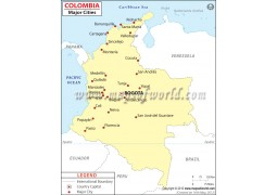 Colombia Cities Map