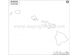Blank Map of Hawaii