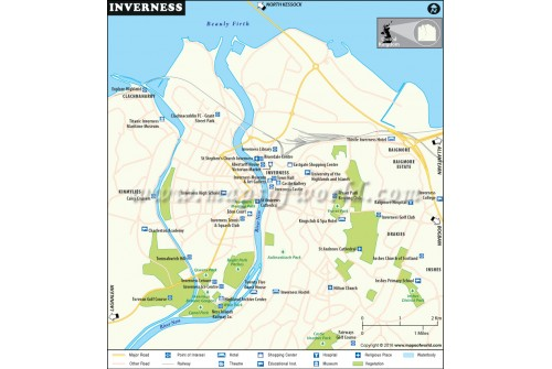 Inverness City Map