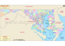 Maryland Zip Code Map