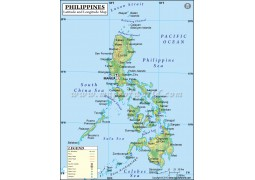 Philippines Latitude and Longitude Map
