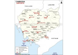 Cambodia Airports Map