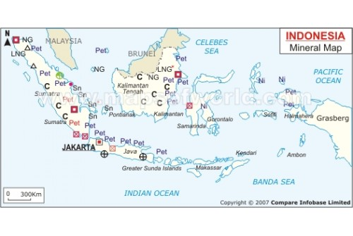 Indonesia Mineral Map