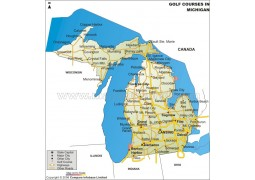 Michigan Golf Courses Map