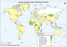 World Military Expenditures Map