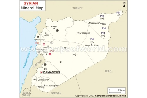 Syria Mineral Map