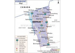Map ofVermont