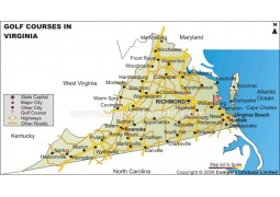 Virginia Golf Courses Map